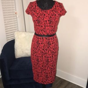 Express red and black 2 piece set.